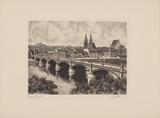 Frankfurt/O., Gesamtansicht Collectable Print by  Bruck