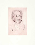 Goethe Collectable Print by  Bruck