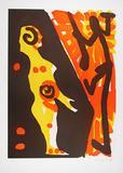 Serie I Rächer (Gelb-Orange) Edição limitada por A. R. Penck