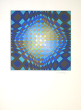 Sans Titre 6 (F.V. 3/30) Edition limit&#233;e par Victor Vasarely