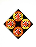 The Beware-Danger Am. Dream 3 Serigraph by Robert Indiana