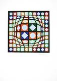 Sans Titre 3 (F.V. 3/30) Spesialversjon av Victor Vasarely