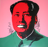 Mao Tse-Tung Kopf Rot-Gr&#252;n S&#233;rigraphie par Andy Warhol