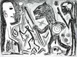 Homer u. Aristoteles, 1 Blatt Edição limitada por A. R. Penck