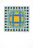 Sans Titre 5 (F.V. 3/30) Spesialversjon av Victor Vasarely