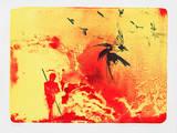 Mann mit Vögeln Limited Edition av Reinhard Stangl