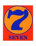 No. seven Serigraph by Robert Indiana