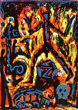 Flammen Edição limitada por A. R. Penck