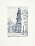 Potsdam, Garnisonskirche Print by Bruck 