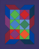 Ohne Titel XLVI (Lila) Limited Edition by Victor Vasarely