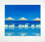 Three Parasols, c.2001 Limited Edition by Reuben Colley