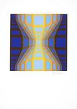 Sans Titre 7 (F.V. 3/30) Spesialversjon av Victor Vasarely