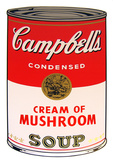 Campbell's Soup - Cream of Mushroom Serigraph by Andy Warhol