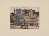 Hildesheim, Tempelherrenhaus Collectable Print by  Bruck