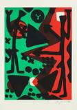 Serie II Wir (Gruen-Schwarz) Edição limitada por A. R. Penck