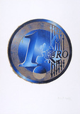 Ein Euro (Blau) Limited Edition by Richard Wolff