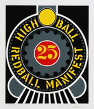 High Ball Twenty Five Limited edition van Robert Indiana