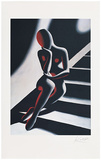 Frau auf Treppe Limited Edition by Mark Kostabi