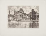 Danzig, 3 Wahrzeichen Collectable Print by  Bruck