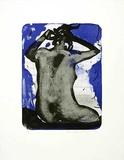 Rücken vor Blau I, c.1999 Begränsad utgåva av Reinhard Stangl