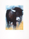 Stier Blau, c.2001 Limited Edition by Hans Richter