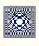 Kek bleu Limited Edition by Victor Vasarely