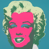 Marilyn Kopf Pink-Hellgr&#252;n-Dunkelgr. Serigraph by Andy Warhol