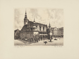 Brieg, Rathaus Collectable Print by  Bruck