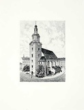 Forst, Nikolaikirche Collectable Print by  Bruck