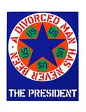 the president Serigraph van Robert Indiana