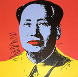 Mao Tse-Tung Kopf Blau-Gelb S&#233;rigraphie par Andy Warhol