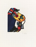 Kleine Gurke, c.1996 Begränsad utgåva av Otmar Alt
