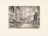 Paris, Montmartre Print by Fritz 