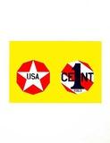 Robert Indiana - The New Glory Penny (from the American Dream Portfolio) - Serigrafi