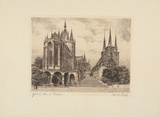 Erfurt, Dom und Severinkirche Collectable Print by  Bruck