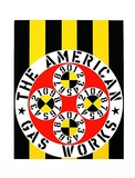 the american gas works Serigraph by Robert Indiana