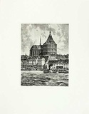 Rostock, St. Marien Collectable Print by  Bruck