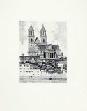 Magdeburg, Dom (hoch) Collectable Print by  Bruck