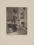 Görlitz, Rathaus-Treppe Collectable Print by  Bruck