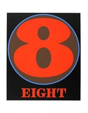 No. eight Serigraph van Robert Indiana