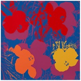 Blumen 66 Gelb/Orange/Rot S&#233;rigraphie par Andy Warhol