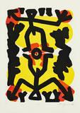 Serie III Erbe (Rot-Gelb) Edição limitada por A. R. Penck