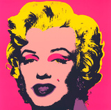 Marilyn Kopf Beige-Schwarz-Gelb Serigraph by Andy Warhol