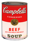 Campbell's Soup - Beef vegetables Serigraph by Andy Warhol