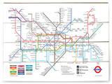 Plan du métro de Londres Panneau en bois