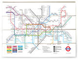 London Underground Map Wood Sign