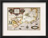 Map: Colonial America, Framed Giclee Print by Jodocus Hondius