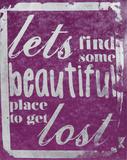 Beautiful Place (Purple) Serigrafi (silketryk) af Kyle & Courtney Harmon
