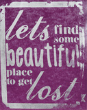 Beautiful Place (Purple) Serigrafie von Kyle & Courtney Harmon