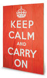 Keep Calm Cartel de madera